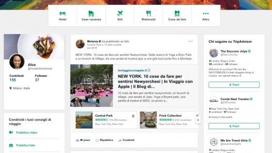 TripAdvisor, ora è quasi un social: bacheca e like per vacanze in condivisione totale